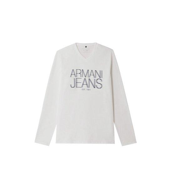 Le Tee Shirt Armani Manches Un Longues Rose Rétro Pour TIx6wER